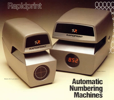 Time/Date/Numbering Machines